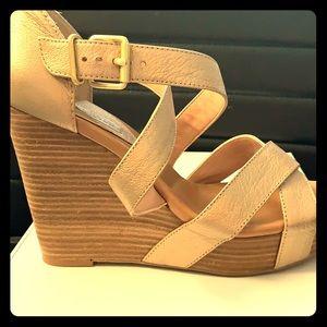 """Banana Republic """"Sarah"""" wedge platform sandal."""